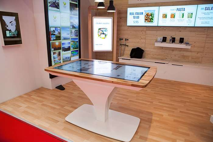 Interact touch screen table, at the Retail Business Technology Expo